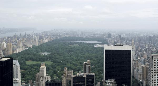 Central Park from Rockefeller Center