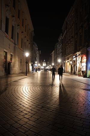 Krakow la nuit