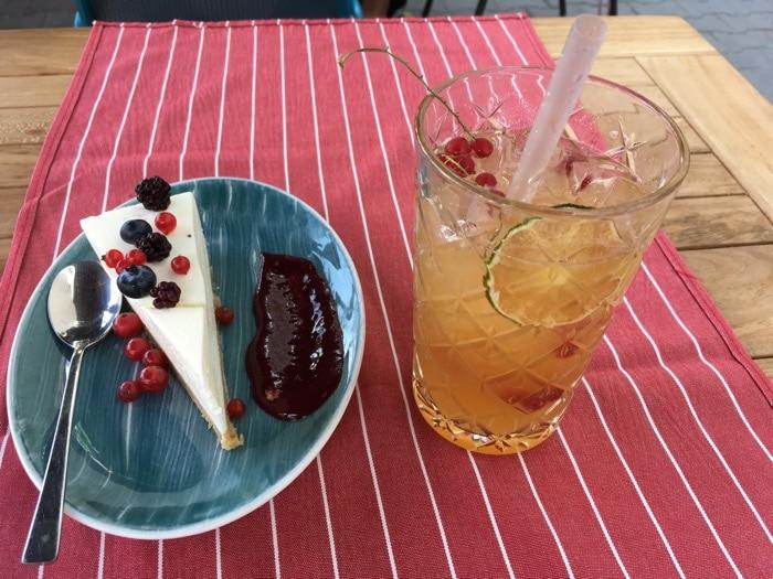cheesecake and cascara lemonade
