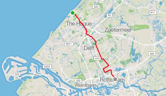 Den Haag to Rotterdam